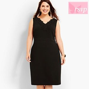 NWOT RSVP Talbots Black Shift Dress Sz 10